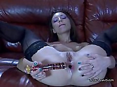 Isabel Fucks Her Juicy Asshole In Sexy Black Stockings