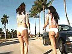 Best asses ever Katie Jordin and her super hot big booty latina friend threesome.3
