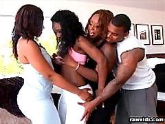 Hot Ebony Foursome