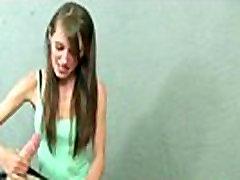 Amateur handjob petite teen sensual wank