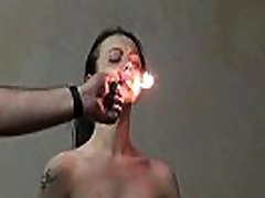 Gruesome fire pain of Emily X in extreme dungeon domination and merciless sm