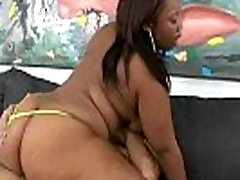 Breathtaking ebony shakes her BIG black booty