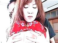 Sensual Asian redhead enjoys pussy licking and massage