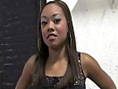 Hot ebony chick in interracial gangbang 21