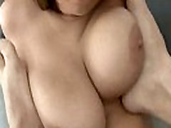 Curvy coed Alex Chance gets her big boobs covered in cum