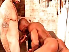 Black sub ass fucked by white dominator