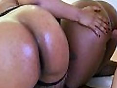 Sexy black GF with round ass rides on cock