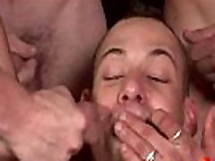 Bukkake Gay Boys - Nasty bareback facial cumshot parties 30