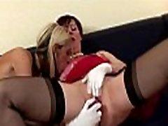 Classy british lesbo MILF masturbating