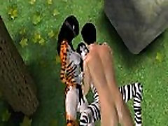 Two 3D cartoon furries getting fucked hard outdoors