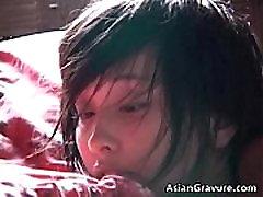Amazing aroused real asian model posing