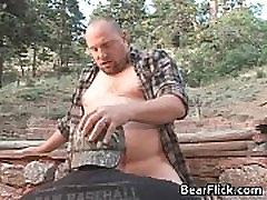 Gay bears outside fucking their brains gay porno