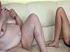 BBW granny and young girl masturbating together