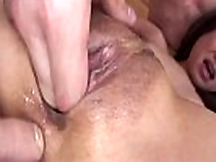 Oriental mature fingered in ass and BJ in group fuck