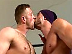 Muscle bottom gets his thick cock sucked and loves it