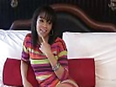 Slutty ebony teen shows off