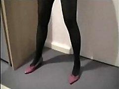 Wife fucked in kinky black stocking