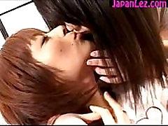 2 Cute Japanese Girls Kissing Passionately