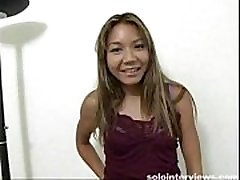 Asian cutie shows her naked body for the first time
