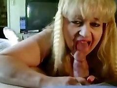 Blond BBW MILF Gives Sloppy Head Pt.3