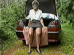 Mature Lady Masturbates Outdoors