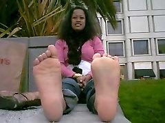 Kinky Asian babe in POV foot fetish video