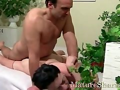 Wet horny shaved mature pussy
