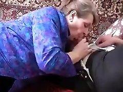 Horny Granny Seduces Young Cock