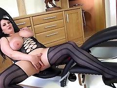 BBW in Black Stockings
