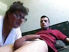 Big tit granny and the handyman