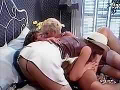 Amber Lynn, Candy Samples, Jenny B. Goode in classic xxx scene