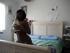 Hot ebony immature dance and strip