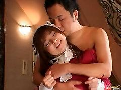 Bucket of cum thrown on Asian sweetheart Makoto Hiiragi