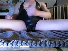 Black latex catsuit masturbate in front of... You!