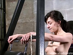 Elise Graves needle bdsm and artistic punishment to tears of decorated masochist in extreme dungeon torments