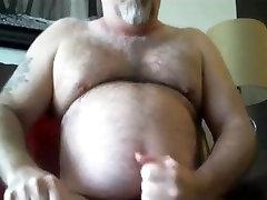 Mature Bear Blows a Load