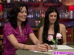 Tribbing mature lesbo enjoys orgasm