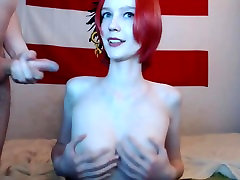 Gorgeous Redhead with perfect boobs fucked and facialiced
