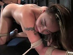 Two busty girls in dirty lesbian BDSM.