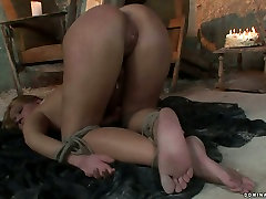 Whorish blond chic gets her punani fisted in BDSM sex video