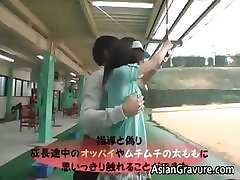 Super cute asian babe blowing tube part6