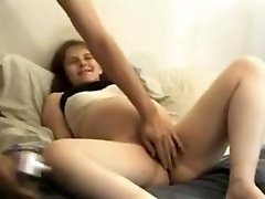 Amater pregnant wife posing for husband