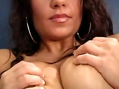 Solo mature masturbating in sexy lingerie and stockings