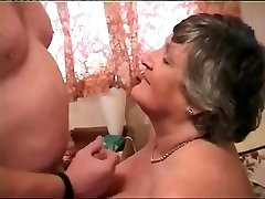 Large Breasted Granny Norma Likes To Ride A Hard Strapon