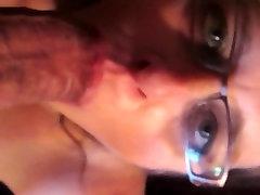 Sexy Amatuer MILF Sucks and Chokes on Big Cock