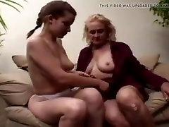 Gilf teaches college girl all about lesbian sex