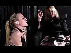 Female Slave is Mistress Anna&039s Human Ashtray!