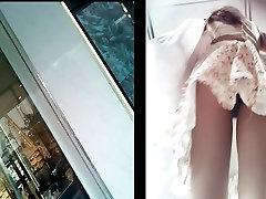Boso upskirt beautiful girl very sexy panty