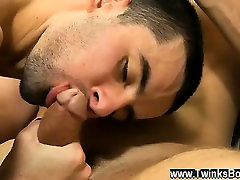 Gay XXX They kiss, undress and Jake worships Prestons