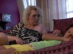 Mature woman licks her young pussy